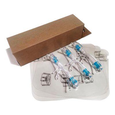 Pack por 3 de Careta de protección facial anti fluidos