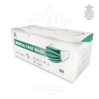 Tapabocas quirurgico termosellado tres capas x caja de 50 unidades