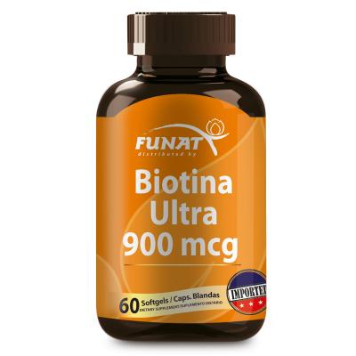 Biotina ultra 900 mcg 60 capsulas