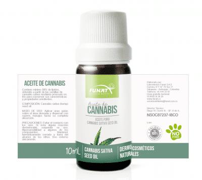 etiqueta aceite de cannabis funat